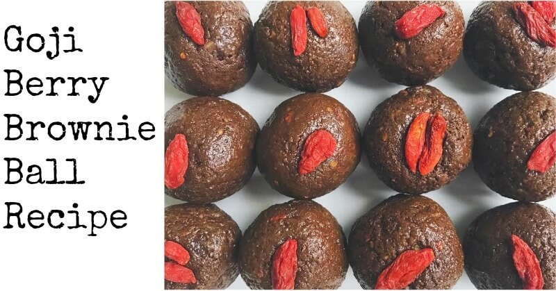 Goji Berry Brownie Ball Recipe