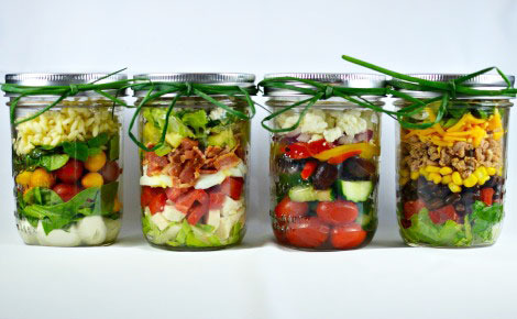 Healthy Salad in a Jar