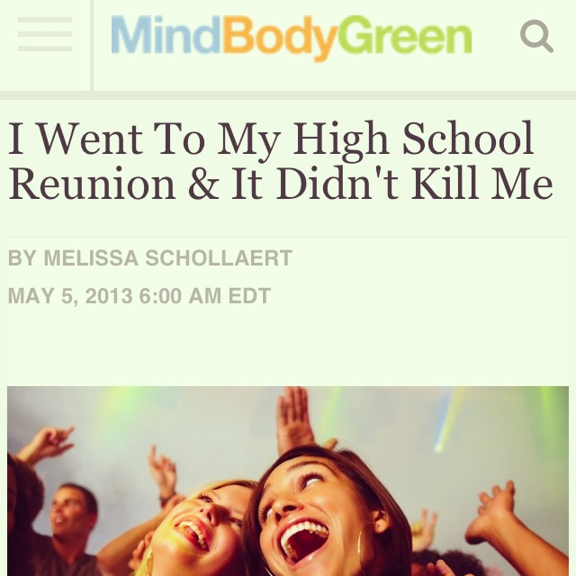 I Went To my High School Reunion and It Didn't Kill Me