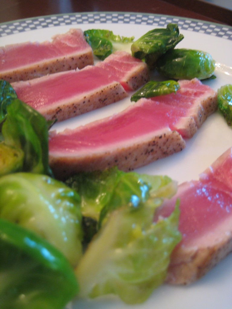 Sesame Ahi Tuna and Brussels Sprouts