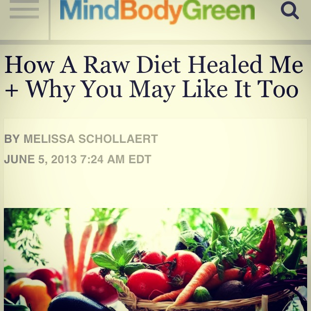 What a Raw Diet Did For Me and Why You May Like it Too!!