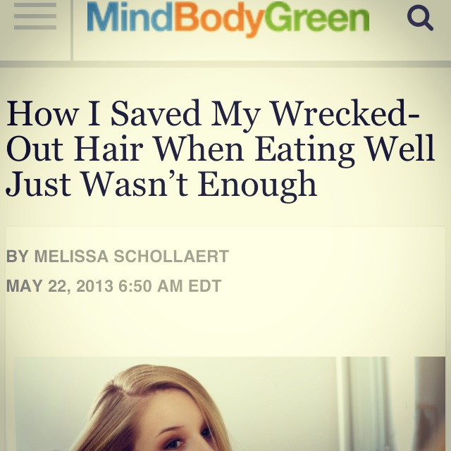 How I Saved My Hair