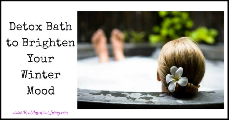 Detox Bath to Brighten Your Winter Mood // realnutritiousliving.com
