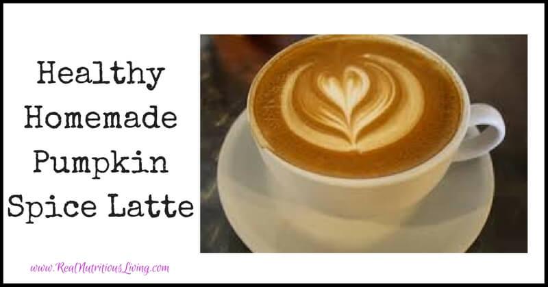 Healthy Homemade Pumpkin Spice Latte // realnutritiousliving.com