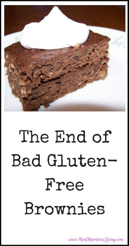 The End of Bad Gluten-Free Brownies // realnutritiousliving.com