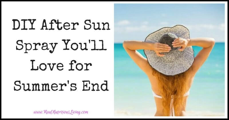 DIY After Sun Spray You'll Love for Summer's End