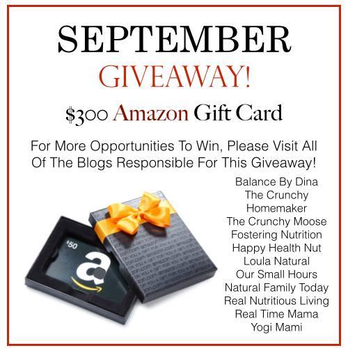 September Giveaway – $300 Amazon Gift Card! (This giveaway has ended)