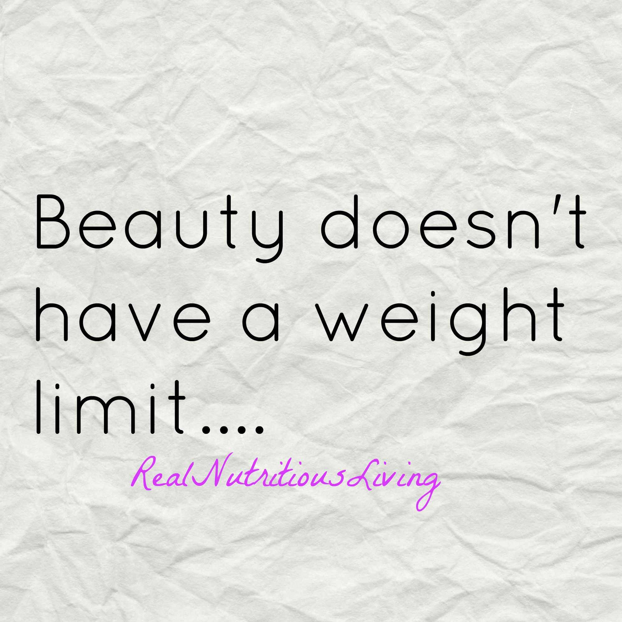 It's Not About Weight Loss….