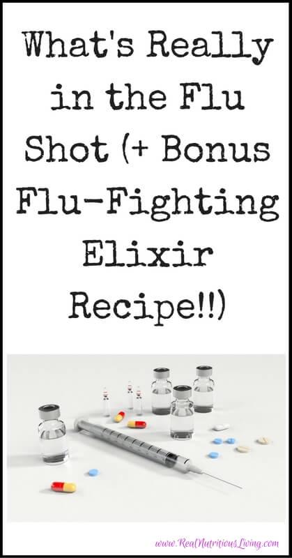 What's Really in the Flu Shot (+ Bonus Flu-Fighting Elixir Recipe!!) // realnutritiousliving.com