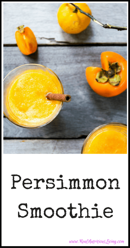 Persimmon Smoothie Recipe // realnutritiousliving.com