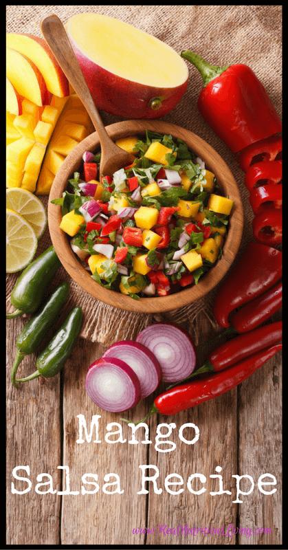 Mango Salsa Recipe // realnutritiousliving.com