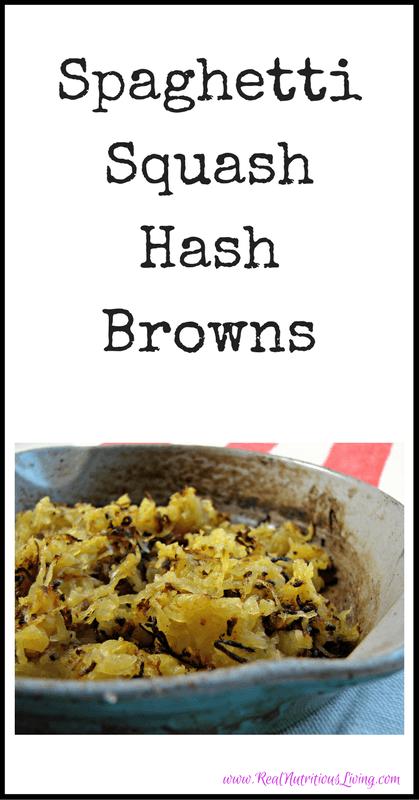 Spaghetti Squash Hash Browns Recipe // realnutritiousliving.com