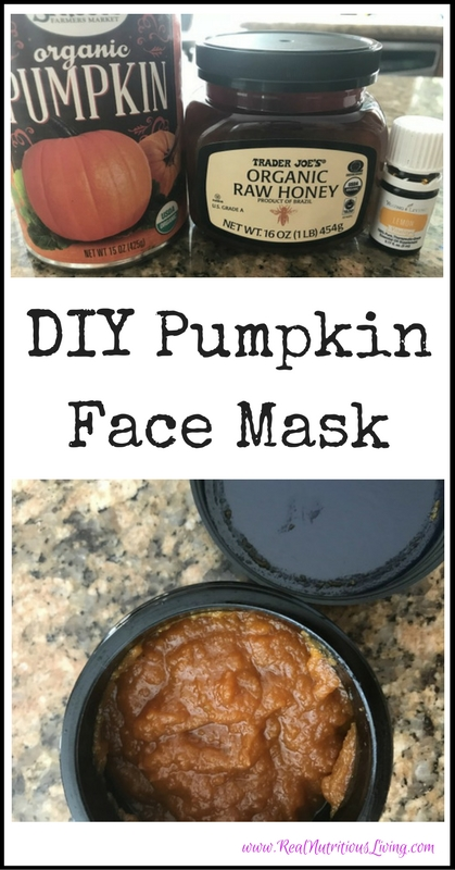 DIY Pumpkin Face Mask // realnutritiousliving.com