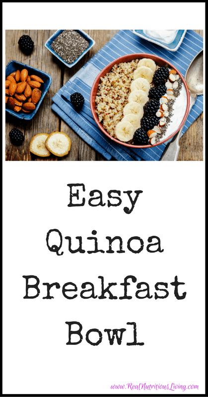 Easy Quinoa Breakfast Bowl Recipe // realnutritiousliving.com