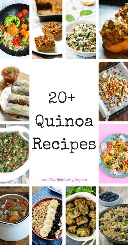 Quinoa Recipe Roundup // realnutritiousliving.com