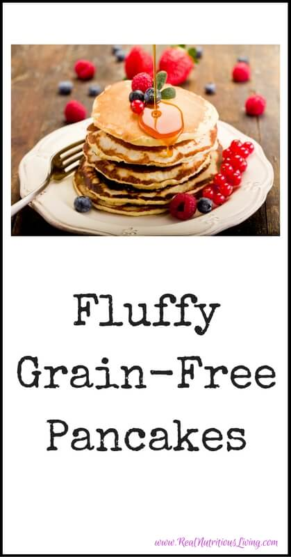 Fluffy Grain-Free Pancakes // realnutritiousliving.com