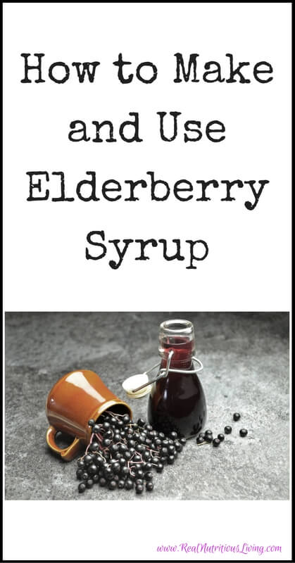 How to Make and Use Elderberry Syrup // realnutritiousliving.com