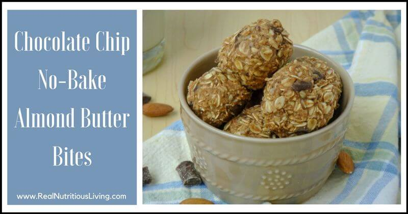 Chocolate Chip No-Bake Almond Butter Bites