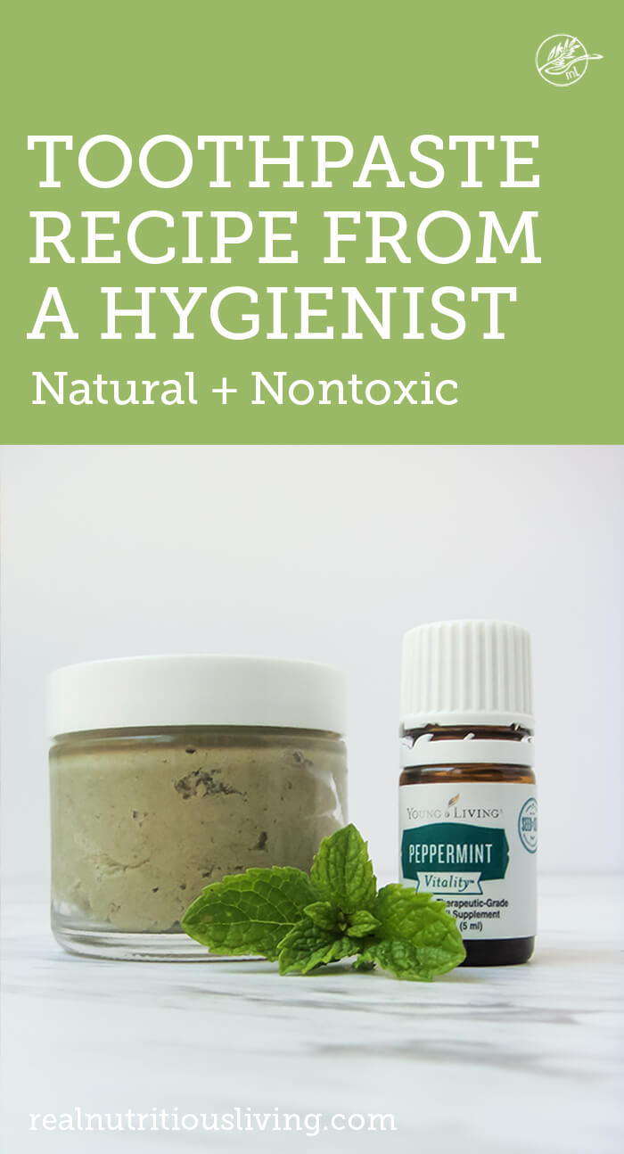 graphic with mint essential oils and natural toothpaste and mint leaves