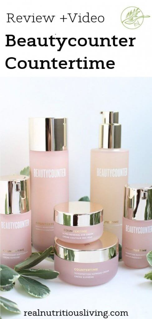 Beautycounter Countertime Review | Interested in Beautycounter products? Check out what I thought of them in this honest review of this new line specifically formulated to target the signs of aging. Learn more about this 4-step Countertime Regimen designed to help reverse signs of aging and keep skin in peak, youthful performance. #beauty #skincare #antiaging #wrinkles #greenbeauty