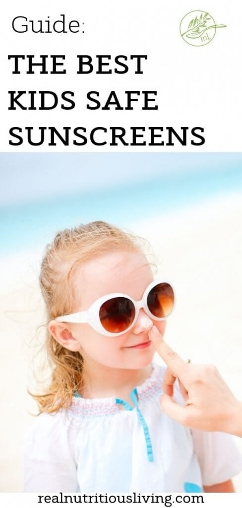 Looking for the best kids safe sunscreen and which ingredients to avoid? This guide will teach you the must avoid chemicals in sunscreen as well as the best safe sunscreen for the entire family, including, baby's, kids and pregnant mama's! #skincare #health #holiday #sunscreen #parenting