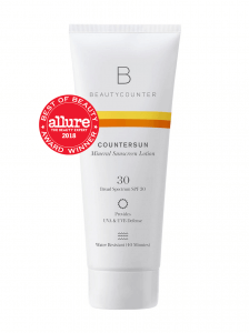 Beautycounter Mieral Sunscreen Lotion bottle
